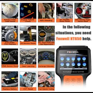 Scanner Automotivo Foxwell NT650 - ABS Airbag SAS DFP Injetor CVT TPS OIL