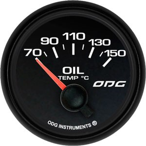 Indicador Dakar Full Color Oil Temp 52 mm